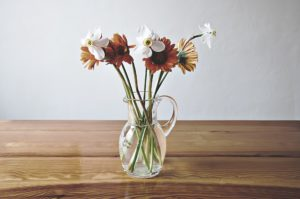 生花を飾る