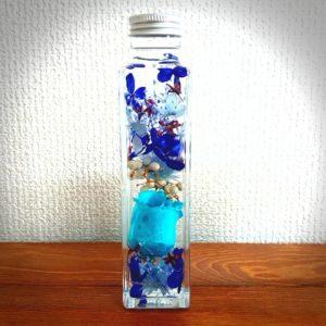 青色オーダーメイドハーバリウム